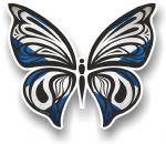 Ornate Butterfly Wings Design With Scotland Scottish Saltire Flag Motif Vinyl Car Sticker 100x85mm